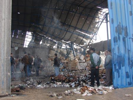 il magazzino di medicinali bombardato dall'IDF