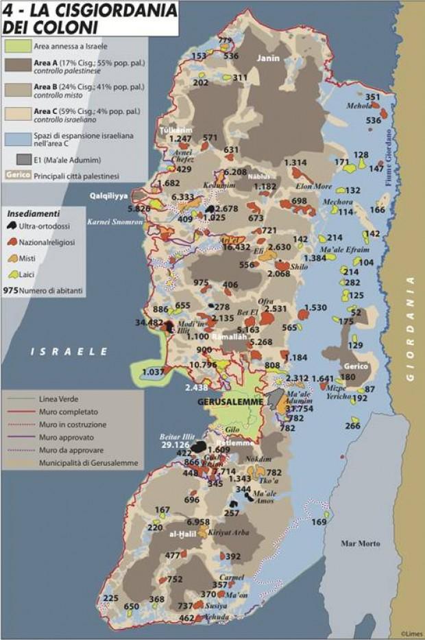 Cartina Israele Palestina.Cartina E Mappa Della Cisgiordania Dei Coloni Bocchescucite