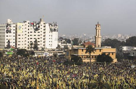 Thousands of Palestinians attend rare Fatah rally in Hamas-run Gaza