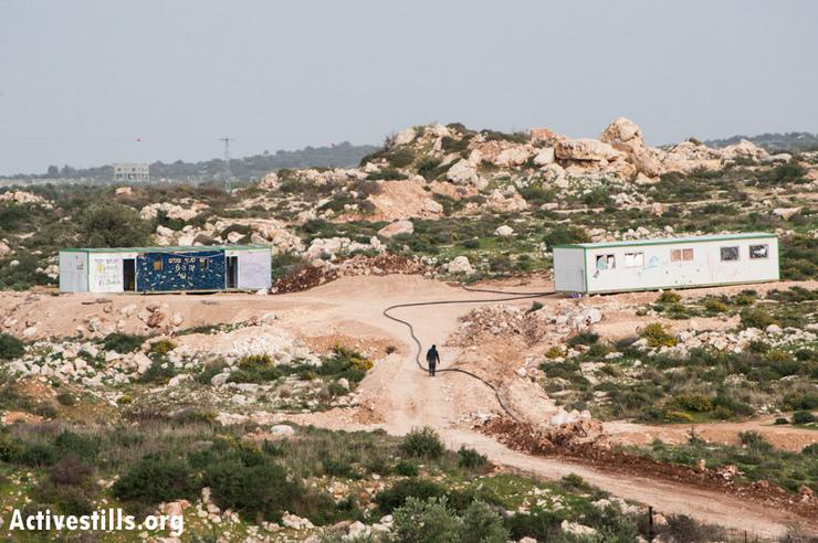 Israeli settlement outpost, Jayyous, West Bank, 28.1.2013