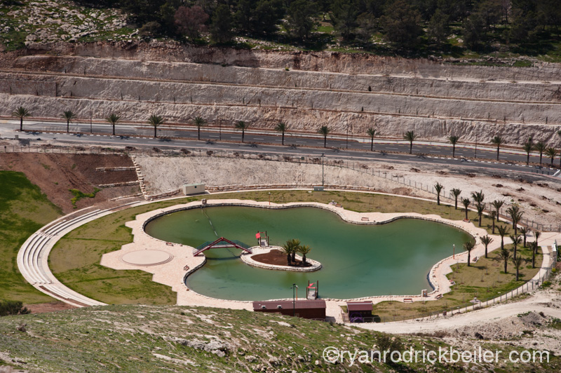Artificial lake in Maale Adumim