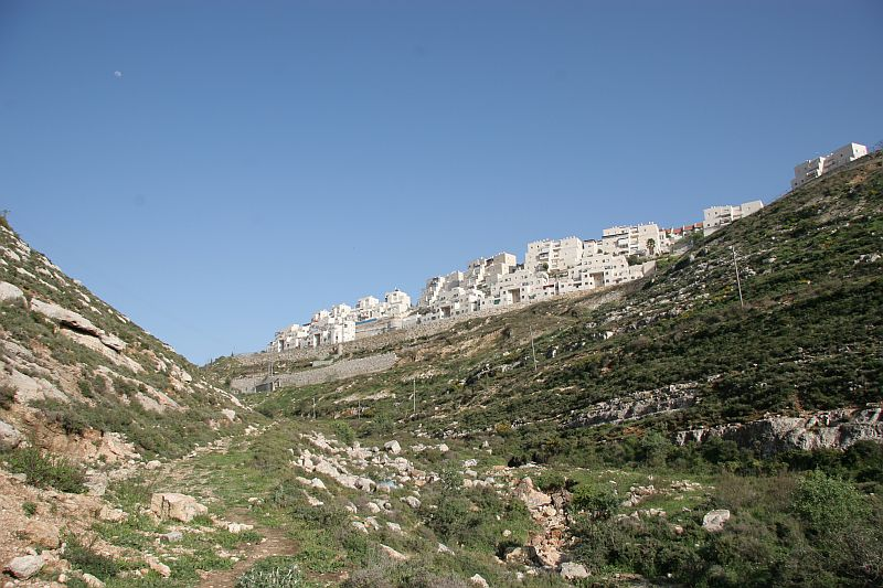 Givat Zeev, view from the wadi