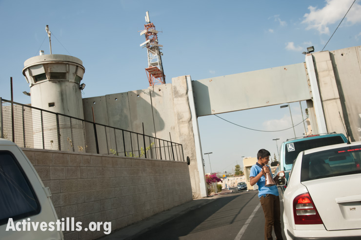 Israeli military checkpoint, Bethlehem, West Bank, 30.9.2013