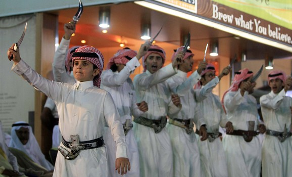 Dancers perform at the 12th Abha Festival