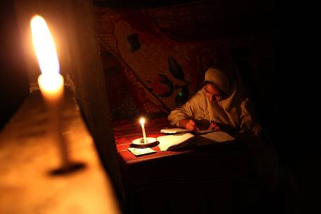 Electricity outage in Gaza city