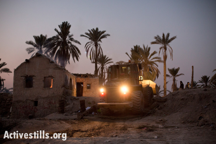 Eviction of Ein Hijleh protest camp, Jordan valley, West Bank, 7