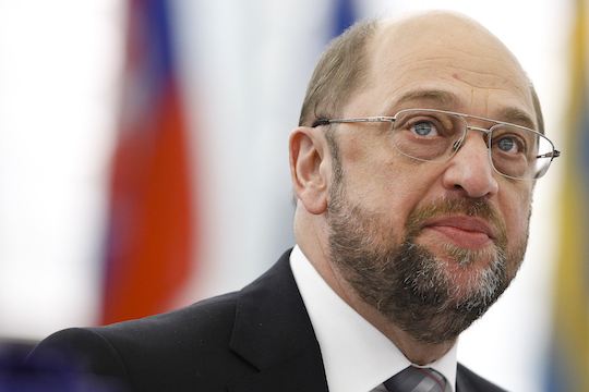 New elected president Martin  SCHULTZ