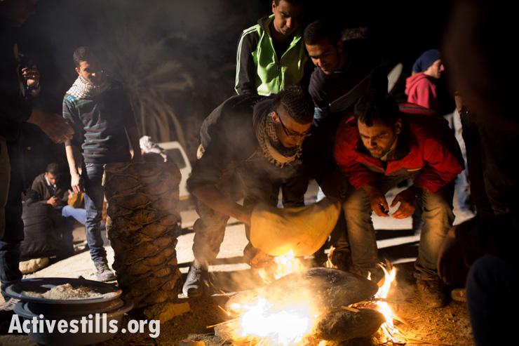 Ein Hijleh protest village, Jordan valley, West Bank, 31.1.2014