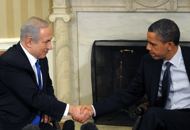 US President Obama Meets Israeli Prime Minister Neyanyahu in Oval Office of White House