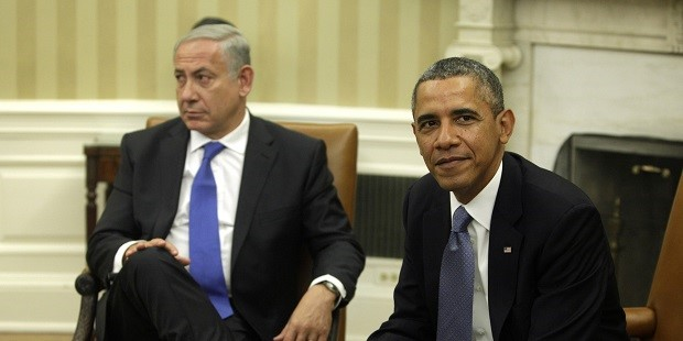 U.S. President Barack Obama, right, and Benjamin Netanyahu, prime minister of Israel, sit during a meeting at the White House in Washington, D.C., U.S., on, Monday, Sept. 30, 2013. Obama and Netanyahu met today as the contacts between Obama and Irans president test the improved relationship of the U.S. and Israeli leaders. Photographer: Chris Kleponis/Bloomberg via Getty Images