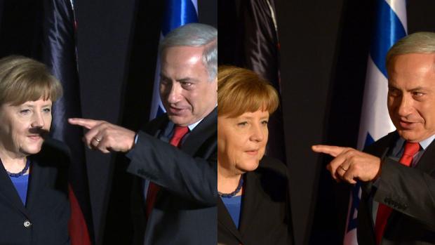La Merkel e Netanyahu: metteteli a confronto