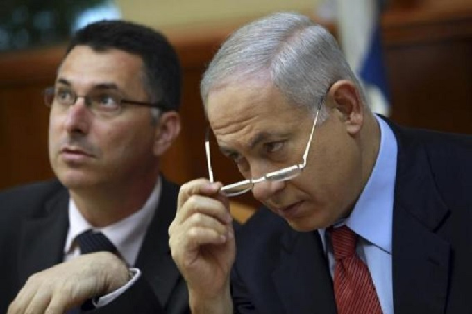 Risultati immagini per gideon sa'ar bibi netanyahu